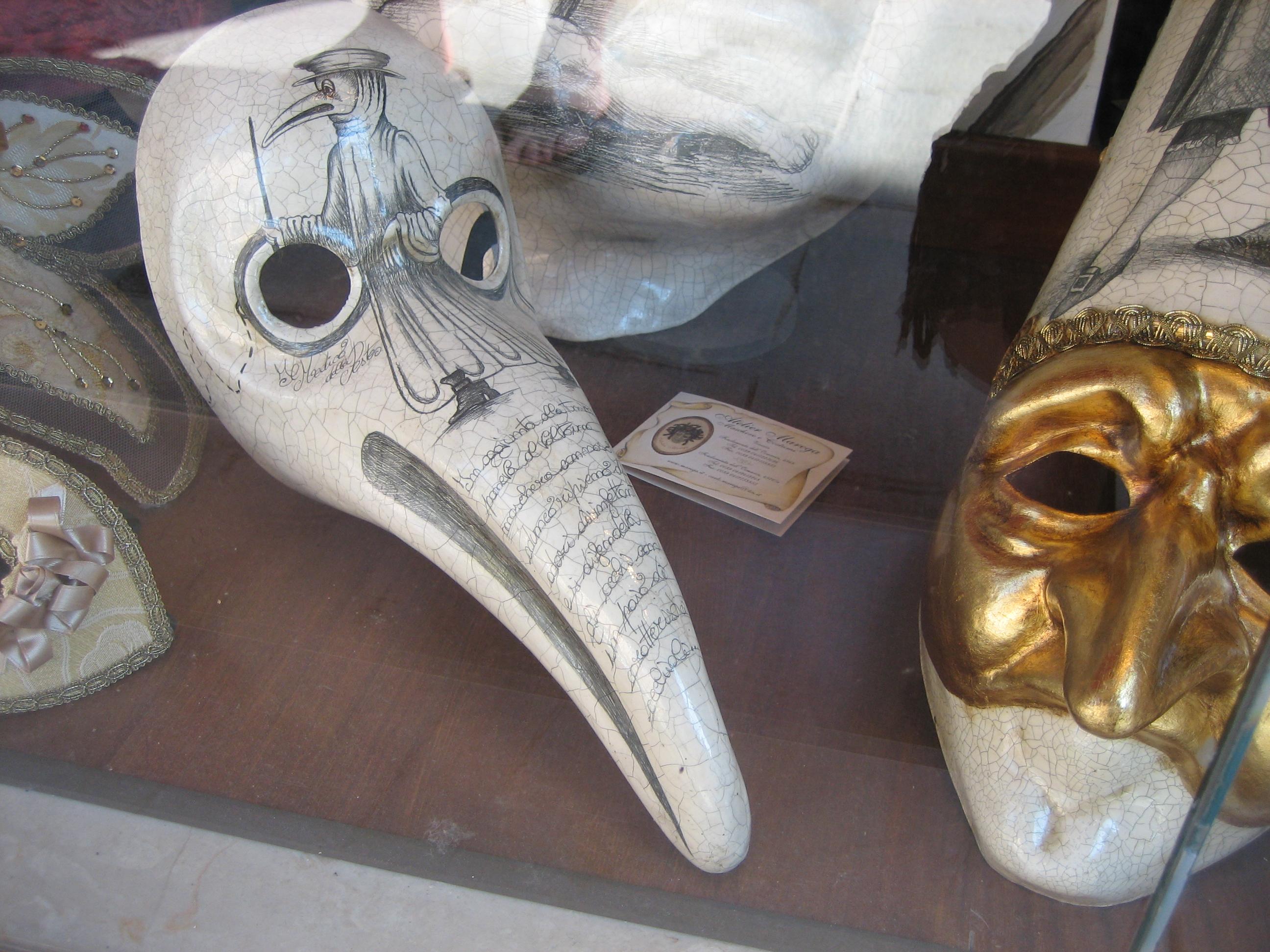 Βενετσιάνικη αποκριάτικη μάσκα «Ο γιατρός της πανούκλας» (Il Medico della Peste). Commedia dell'Arte.