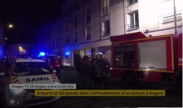 Αποτέλεσμα εικόνας για Νεκροί 4 φοιτητές στη Γαλλία - κατέρρευσε μπαλκόνι όπου έκαναν πάρτι