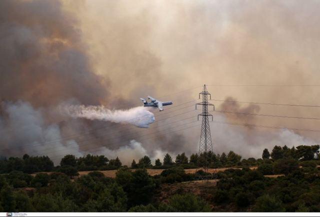 Έκλεισε η Εθνική Αθηνών - Λαμίας λόγω πυρκαγιάς στη Βαρυμπόμπη!