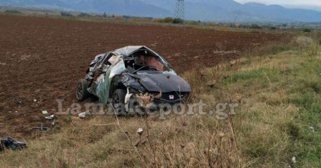 Φθιώτιδα: Εκτροπή - ανατροπή αυτοκινήτου με σοβαρό τραυματισμό