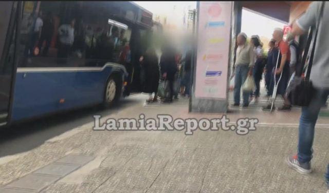 Λαμία: Επιτέθηκαν στον οδηγό όταν τους ζήτησε να πληρώσουν εισιτήριο και να βάλουν μάσκα - ΒΙΝΤΕΟ