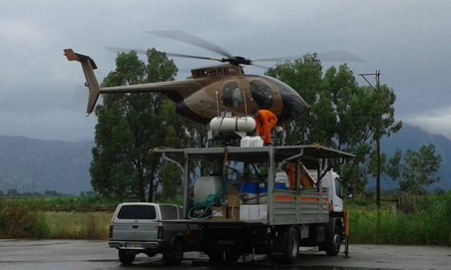 Λαμία: Σηκώνουν πάλι ελικόπτερα για τα κουνούπια