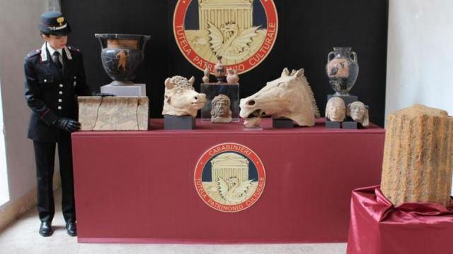 H ιταλική αστυνομία κατάσχεσε αρχαιότητες αξίας 1εκατ. ευρώ
