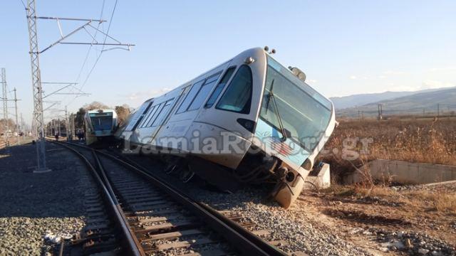 Εκτροχιάστηκε τρένο στο σταθμό Λιανοκλαδίου (ΒΙΝΤΕΟ-ΦΩΤΟ)