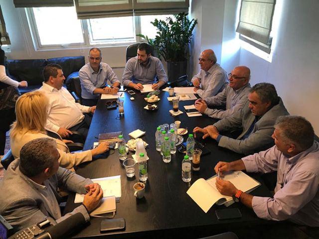 Η συνάντηση Σπανού με τους Δημάρχους Εύβοιας