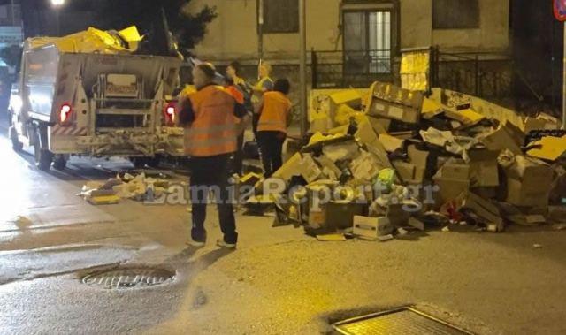 Λαμία: Τέλος στον εφιάλτη - Ξεκίνησε η αποκομιδή των σκουπιδιών