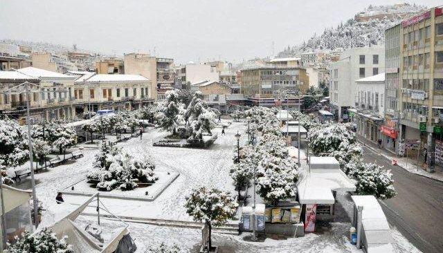 Έρχεται νέο κύμα με χιόνια και μέσα στη Λαμία