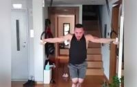 Ο Πετρούνιας «μένει σπίτι» και… λιώνει στην προπόνηση (video)
